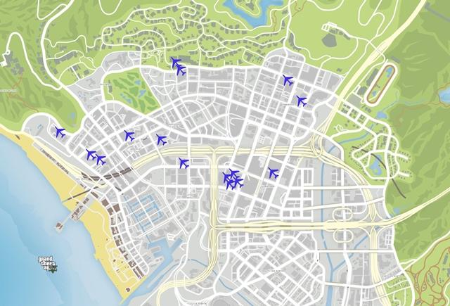 Карта летных испытаний GTA 5