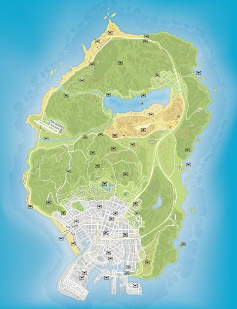 Карта обрывков писем GTA 5