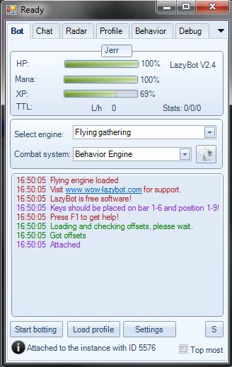 Lazy Bot WoW 4.0.6 Ru