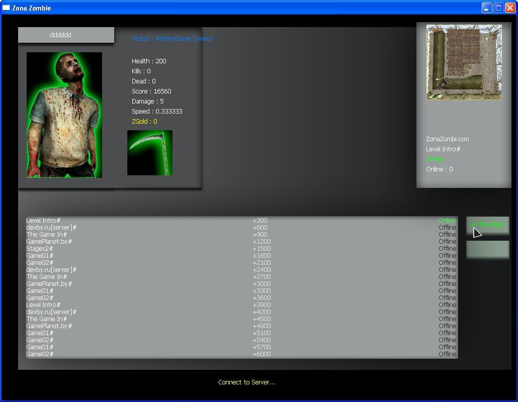 Исходник 3D Онлайн Игры Zona-Zombie