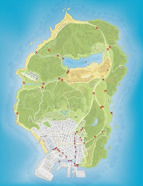 Карта мостов GTA 5