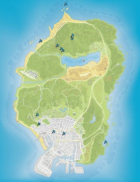 Карта религиозных брошюр GTA 5
