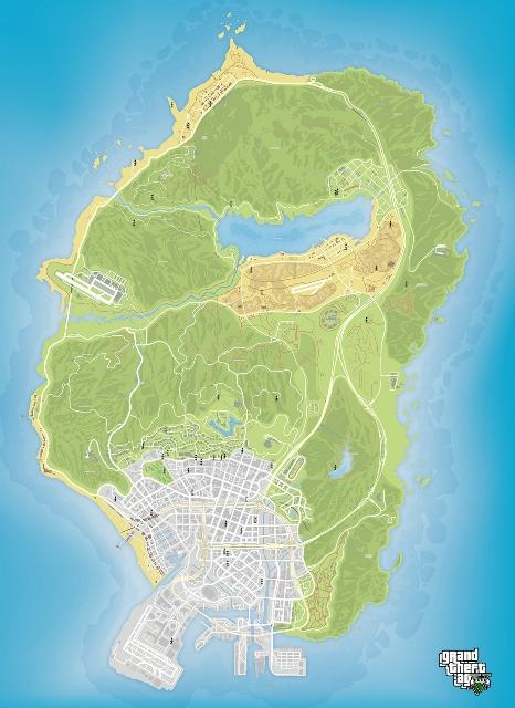Карта случайных встреч GTA 5