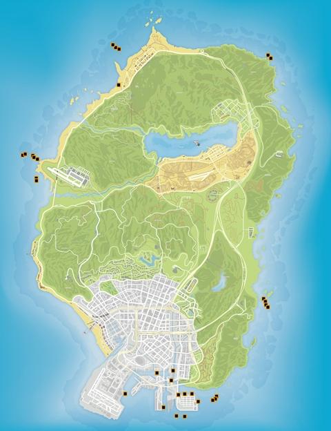 Карта деталей подводной лодки GTA 5
