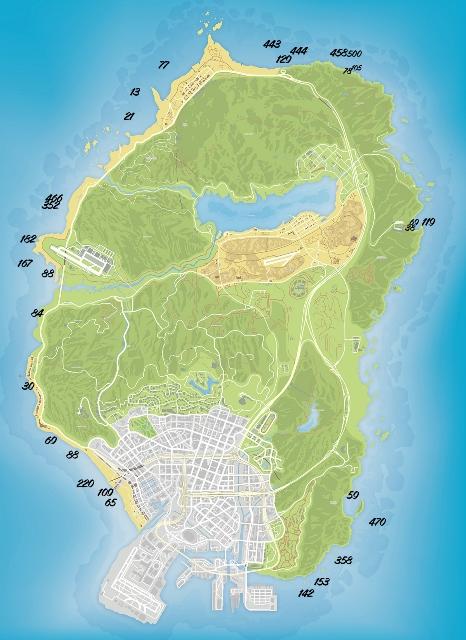Карта токсичных отходов GTA 5