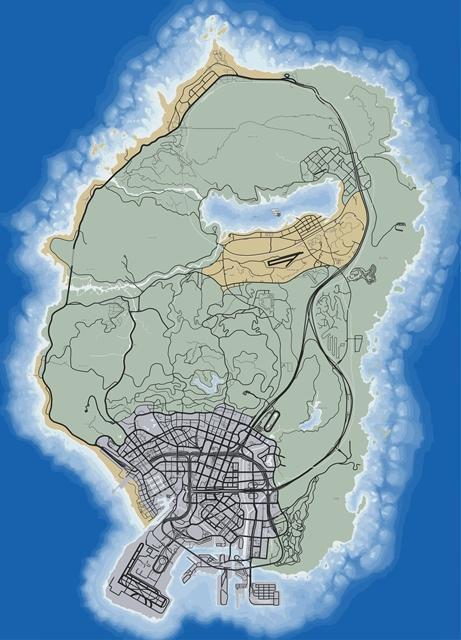 Карта дорог GTA 5