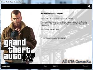 Завершение установки Grand Theft Auto IV